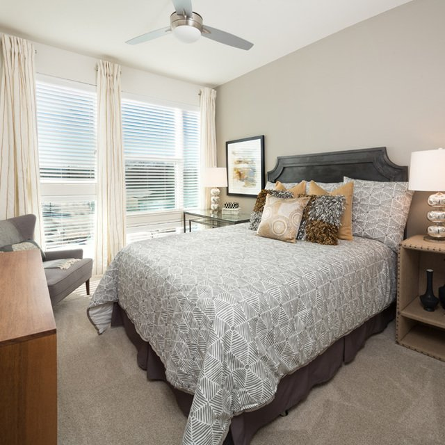 Cypress at Trinity Groves - Bedroom with Light and Bright Oversized Windows