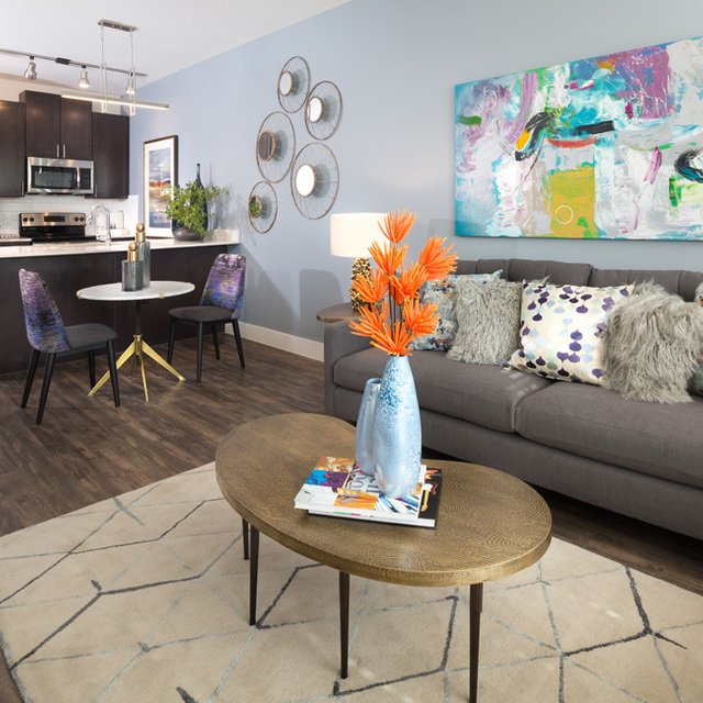 Cypress at Trinity Groves - Modern-Style Living Room